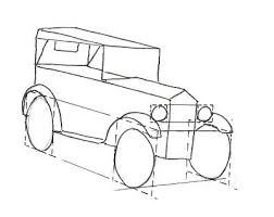 steps to draw cars