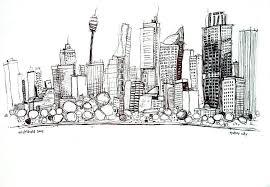 sketching buildings