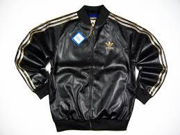 adidas jacket black gold