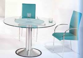 round glass dinette table