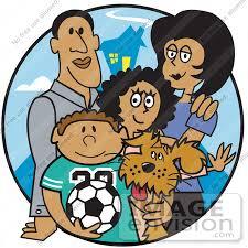 cartoon family clipart