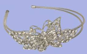 butterfly wedding tiara