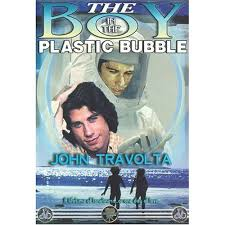 boy in plastic bubble