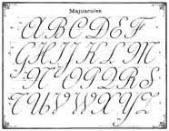 alphabet cursive writing