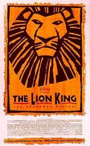 lion king broadway poster