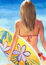 girls surfboard