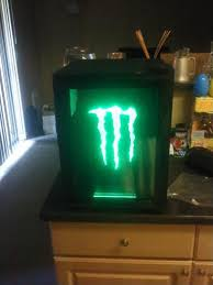 monster energy mini fridge