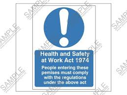 health and safety at work act poster