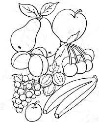 coloriage de fruits