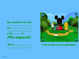 invitaciones de mickey
