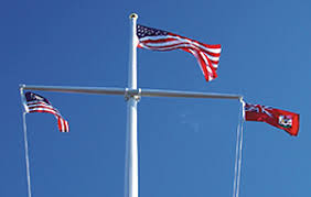 nautical flag poles