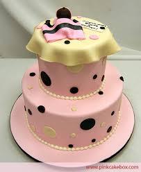 polka dot baby shower cakes