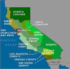 map of california lakes