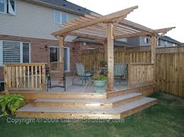 decks with pergolas