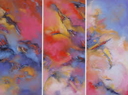 abstract pastel paintings