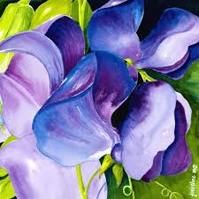 purple sweet peas