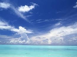 o azul do mar