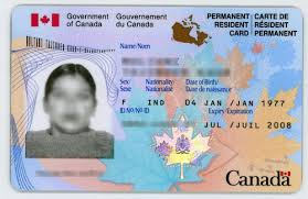 canada permanent resident card