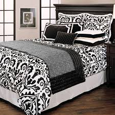 black and white baroque bedding
