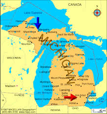 map of mi cities