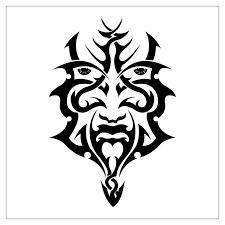 maori mask tattoo