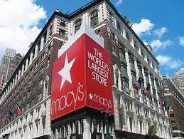 Shopping at Macys in New York