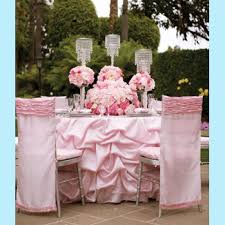 pink table linens