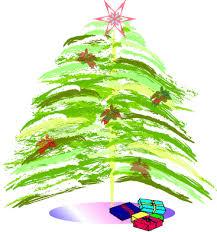clip art of christmas trees