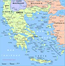 map of greece in english