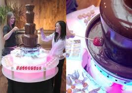 giant chocolate fountain