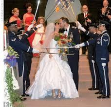 army wedding ceremony