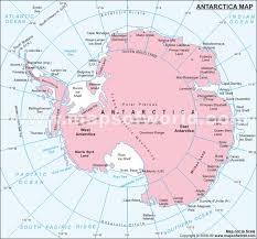 antarctica on map