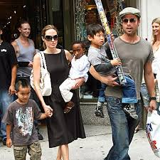 angelina and brad family