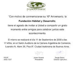 invitacion aniversario