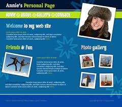 personal homepage template