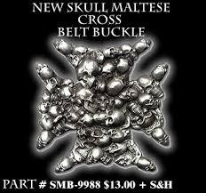 maltese cross belt buckles
