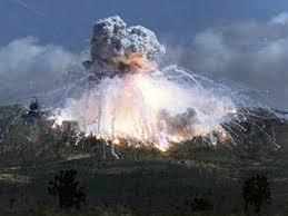 model rocket explosion
