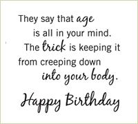 birthday saying