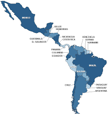 south and central american map