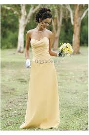 pale yellow prom dress