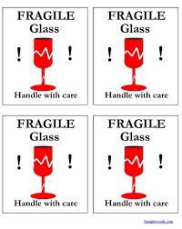 glass label