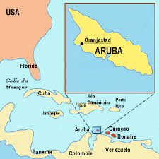 aruba on map