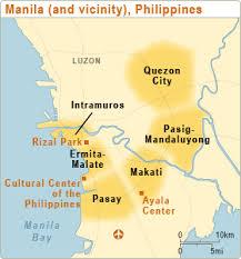 map of malate manila