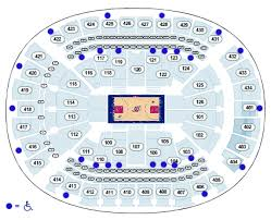 toyota center seating