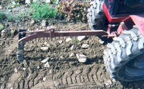 garden tractor plowing