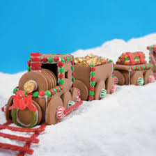 gingerbread train template