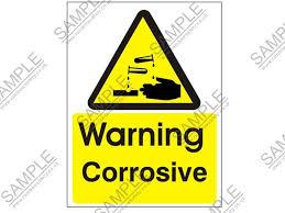 corrosive warning signs