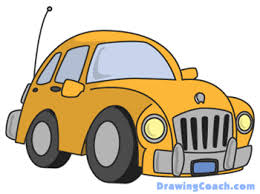 how to draw cartoon cars