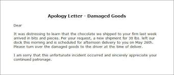 apologize letter sample