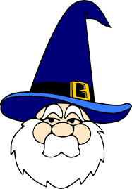 blue wizard hat